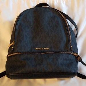 Michael Kors navy backpack